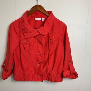 Chico's Red Jacket size 0